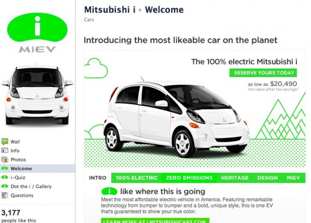 Mitsubishi Goes Social For I Electric Car Focuses Adverts Online