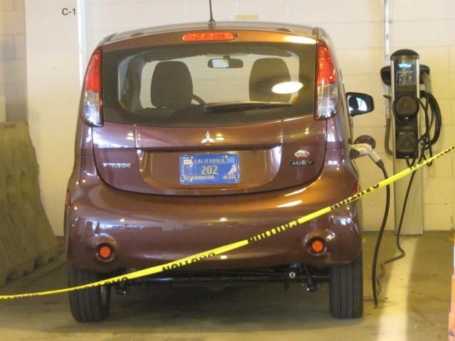 2012 Mitsubishi i electric car, New York City, August 2012