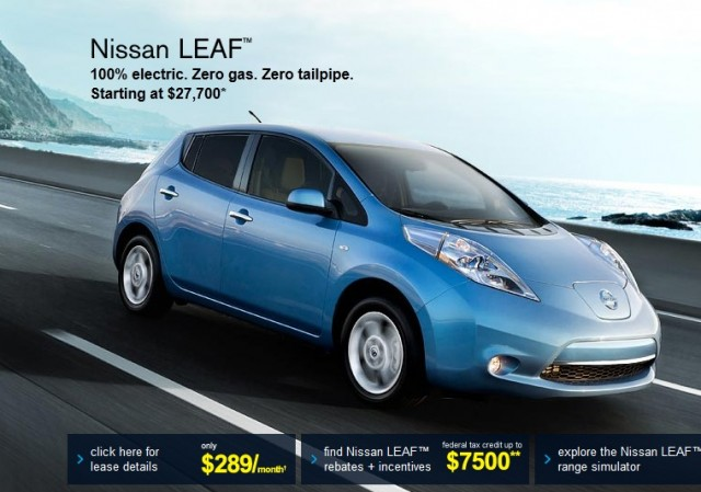 2012 Nissan Leaf Electric Cars Offered At Up To 5000 Off