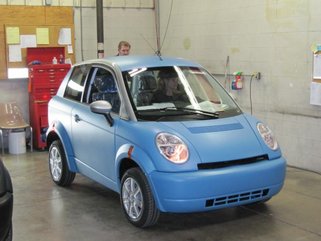 Assembly of Think City electric cars, Elkhart, Indiana, Jan 2011