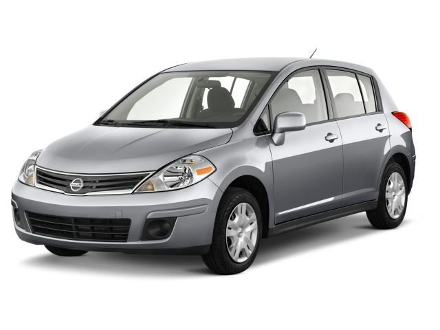2012 Nissan Versa 5dr HB Auto 1.8 S Angular Front Exterior View