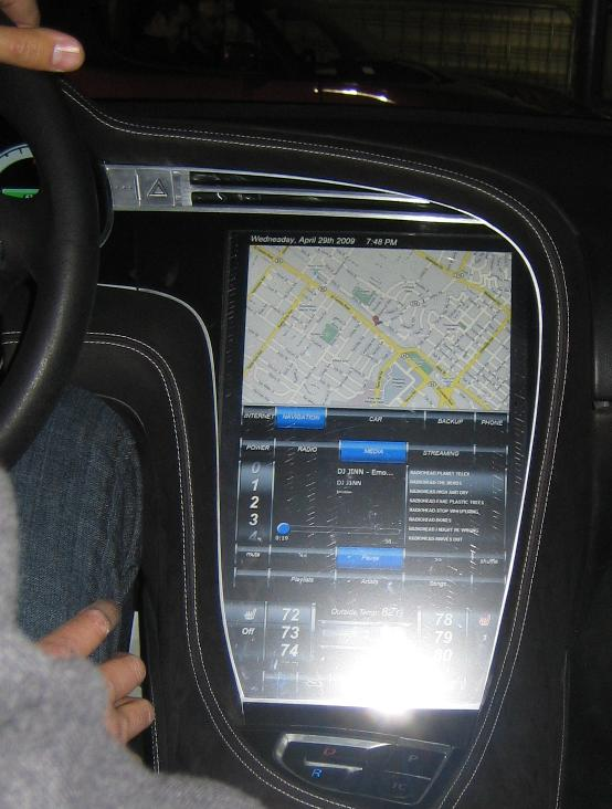 Image 2012 Tesla Model S Instrument Panel Display