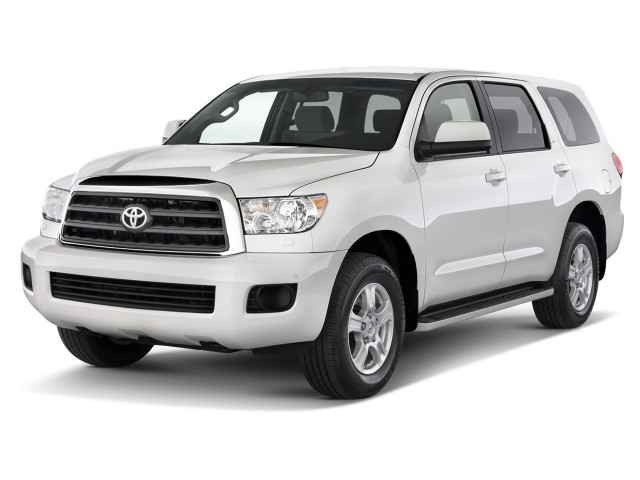 2012 Toyota Sequoia RWD 5.7L SR5 (SE) Angular Front Exterior View