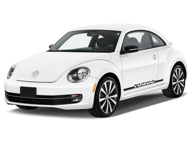 2012 Volkswagen Beetle 2-door Coupe DSG 2.0T Black Turbo Launch Edition PZEV Angular Front Exterior