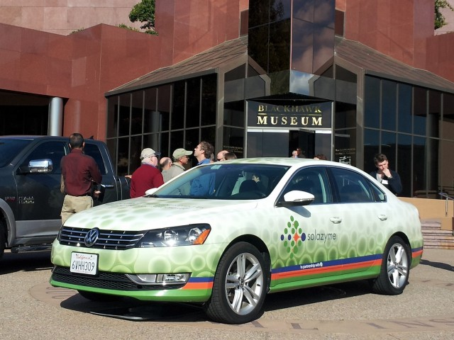 2012 Volkswagen Passat TDI test car running on Solazyme algae-derived diesel fuel