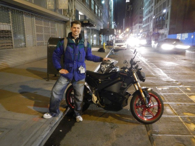 2012 Zero S electric motorcycle with owner Ben Rich