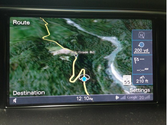 2013 Audi Allroad - Google Earth maps of one of our favorite handling roads
