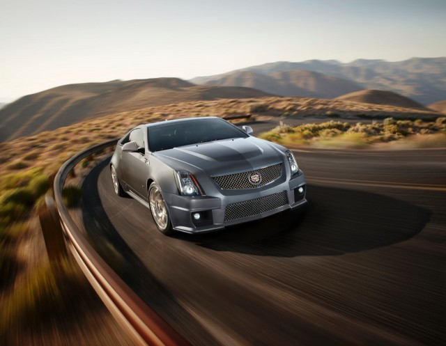 2013 Cadillac CTS-V Coupe in Silver Frost - image: GM Corp