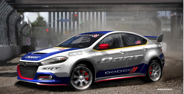 2013 Dodge Dart Global RallyCross car