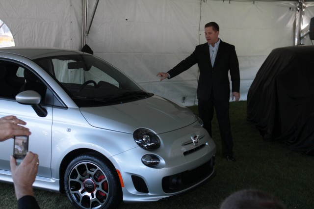 2013 Fiat 500 Turbo debut live at the Concorso Italiano