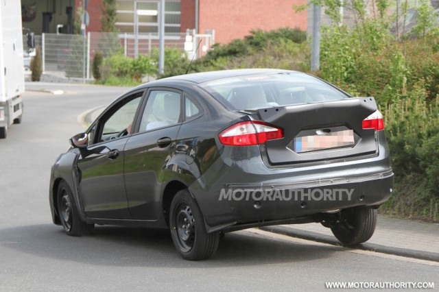 2013 Ford Fiesta Sedan Spy Shots