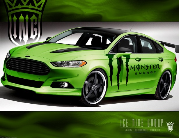 2013 Ford Fusion, built by Ice Nine Group for SEMA 2012