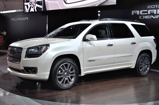2013 GMC Acadia Denali introduction, Chicago Auto Show, Feb 2012