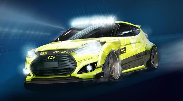 2013 Hyundai Veloster Turbo EGR Night Racer concept