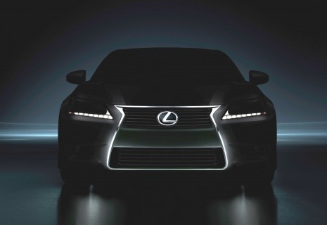 2013 Lexus GS 350 teaser image, brightened to show detail.