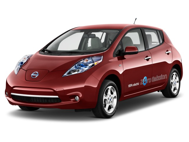 2013 Nissan Leaf 4-door HB SL Angular Front Exterior View
