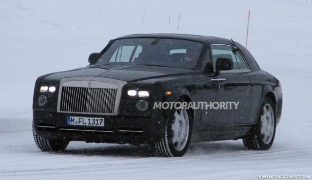 2013 Rolls-Royce Phantom Coupe facelift spy shots