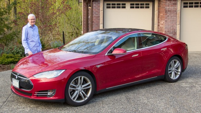 2013 Tesla Model S with owner Bruce Sharpe in Canada