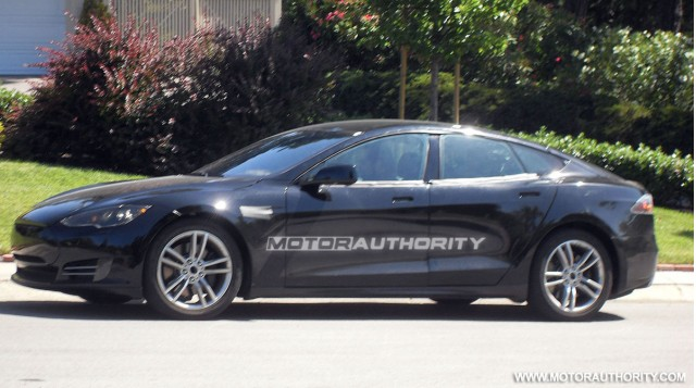 2012 Tesla Model S exclusive spy shots