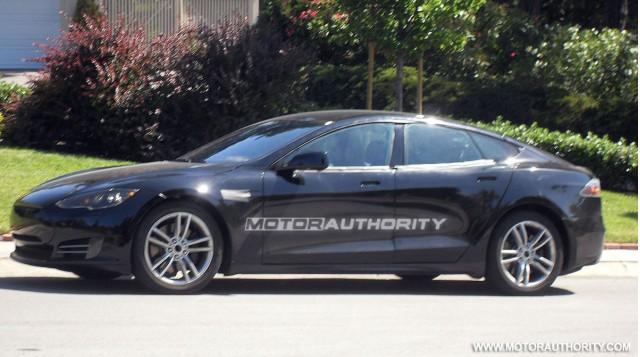 2012 Tesla Model S exclusive spy shots