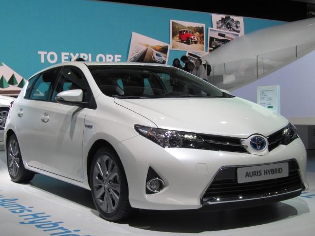 2013 Toyota Auris Hybrid (European model) at 2012 Paris Auto Show