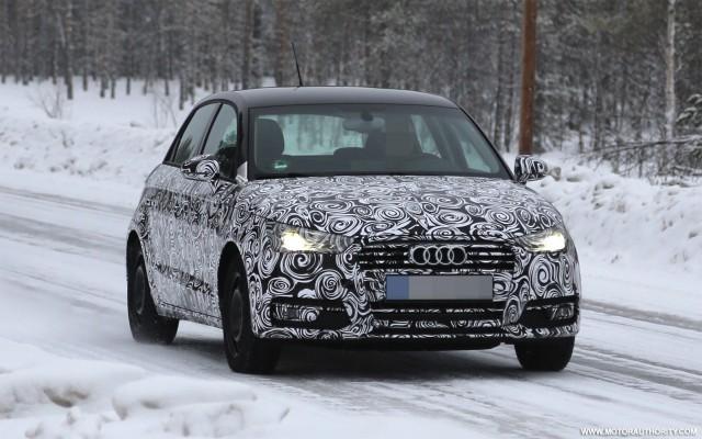 2014 Audi A1 Sportback facelift spy shots