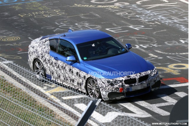2014 BMW 4-Series Coupe spy shots (with M Sport Package)