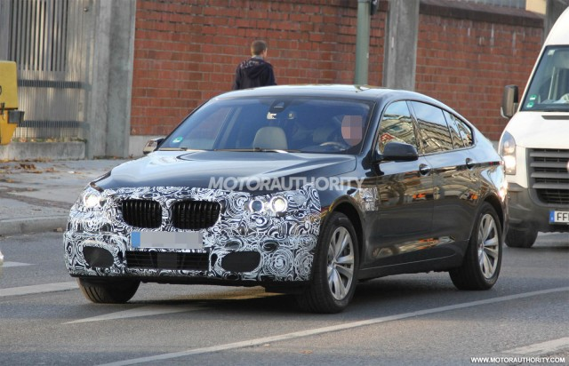 2014 BMW 5-Series Gran Turismo facelift spy shots