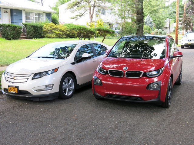 2014 BMW i3 REx vs Chevrolet Volt comparison [photos: David Noland, Tom Moloughney]