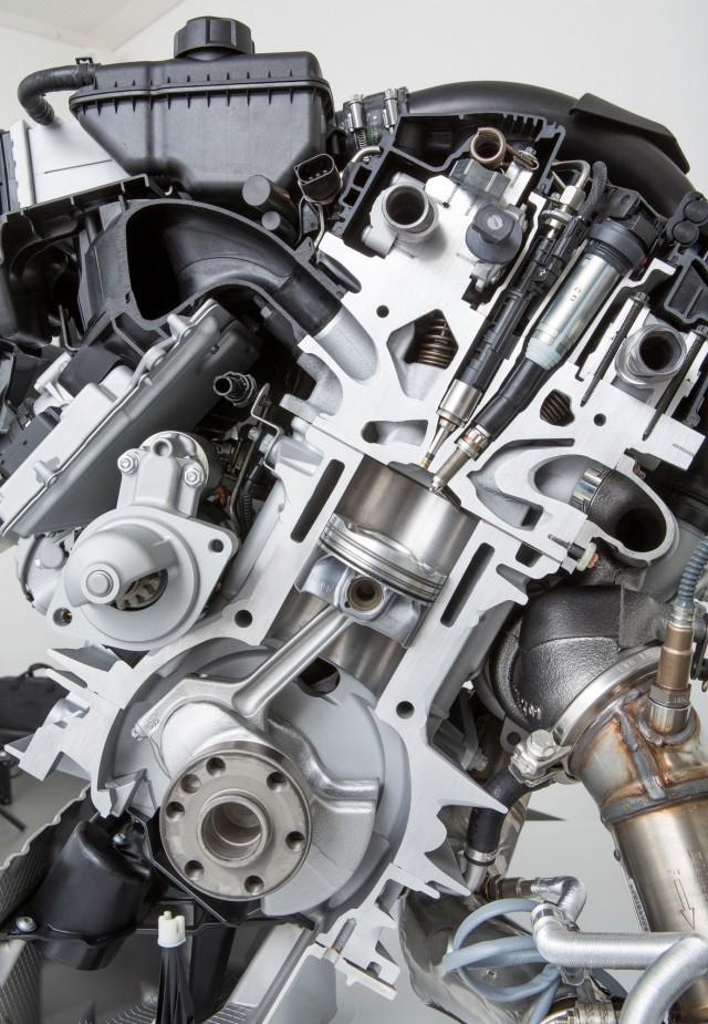 2014 BMW M3 / M4 engine cutaway