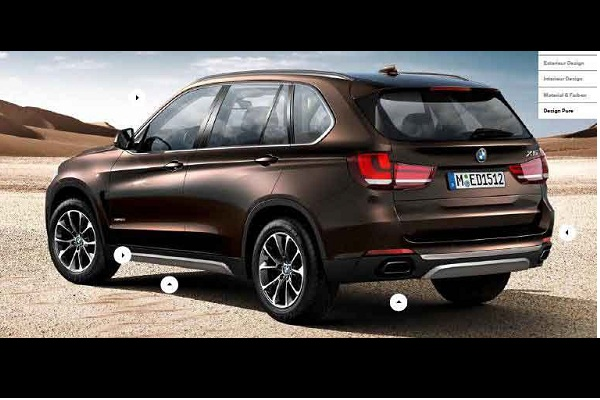 2014 BMW X5, leaked in a scale model brochure