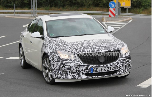 2014 Buick Regal facelift spy shots