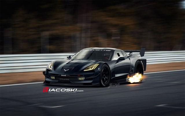 2014 Chevrolet Corvette C7.R race car rendering by Iacoski Design