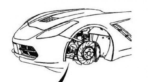 2014 Chevrolet Corvette nose leaked via service website. Image via Chris Doane Automotive LLC.