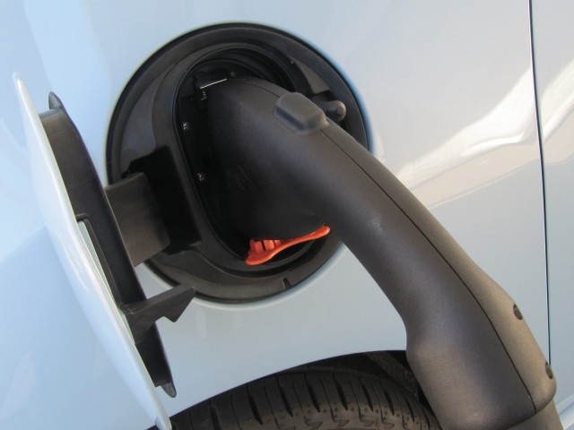 SAE Combo connector in 2014 Chevrolet Spark EV prototype, Sausalito, CA, Nov 2012