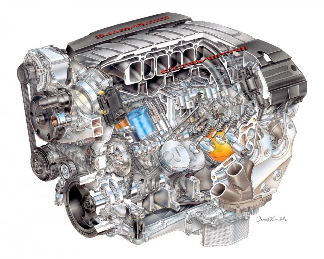 chevy unveils new more fuel efficient small block v 8 GM 7.0 Liter Engine 2014 gm lt1 6 2 liter v 8