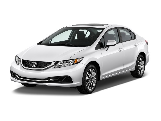 2014 Honda Civic Sedan 4-door CVT EX Angular Front Exterior View