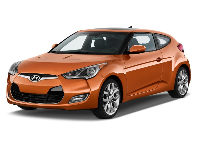 2014 Hyundai Veloster 3dr Coupe Auto w/Black Int Angular Front Exterior View