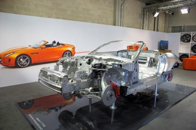 2014 Jaguar F-Type engineering displays