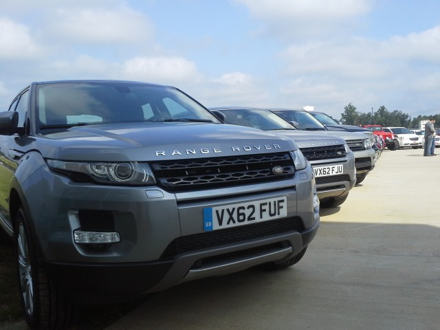 2014 Range Rover Evoques on display after ZF Drive Day, Jul 2013