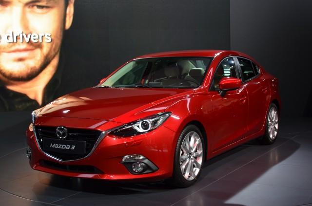 2014 Mazda 3 four-door sedan, 2013 Frankfurt Auto Show [photo: IndianAutosBlog]