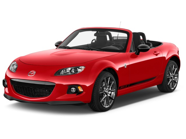 2014 Mazda MX-5 Miata 2-door Convertible Auto Club Angular Front Exterior View
