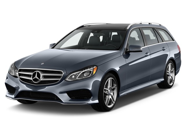 2014 Mercedes-Benz E Class 4-door Wagon E350 Sport 4MATIC Angular Front Exterior View