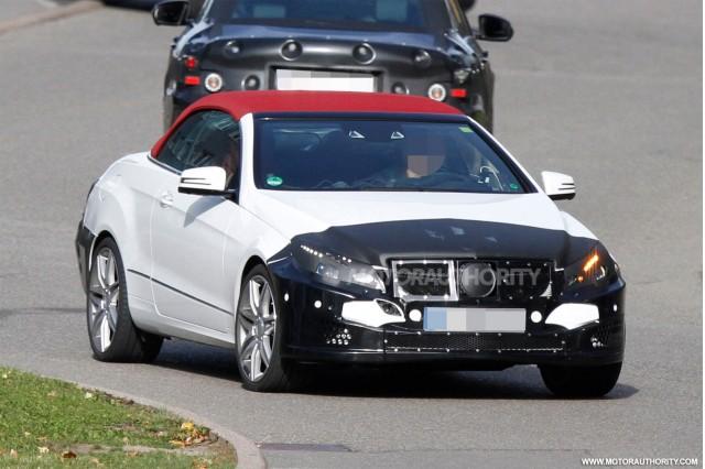 2014 Mercedes-Benz E Class Cabriolet facelift spy shots