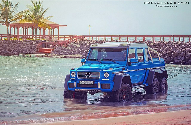 mercedes benz g63 amg 6x6 appropriately dubbed the sea monster. Black Bedroom Furniture Sets. Home Design Ideas