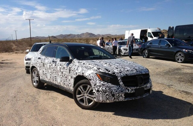 2014 Mercedes-Benz GLA during testing. Photo via Steve Cannon on Twitter.