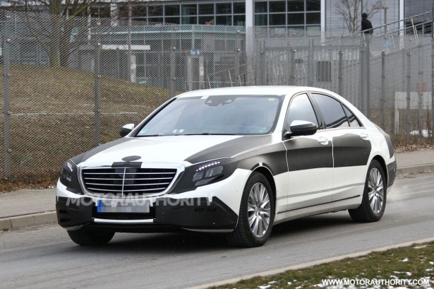 2014 Mercedes Benz S Class Spy Shots
