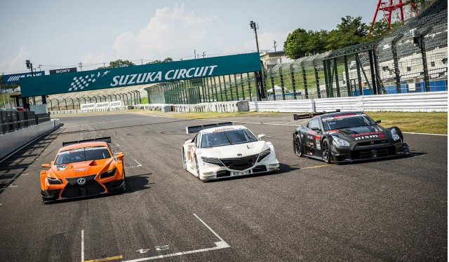 2014 Super GT GT500 race cars from Lexus, Honda and Nissan