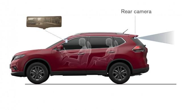 2014 Nissan Rogue Smart Rearview Mirror