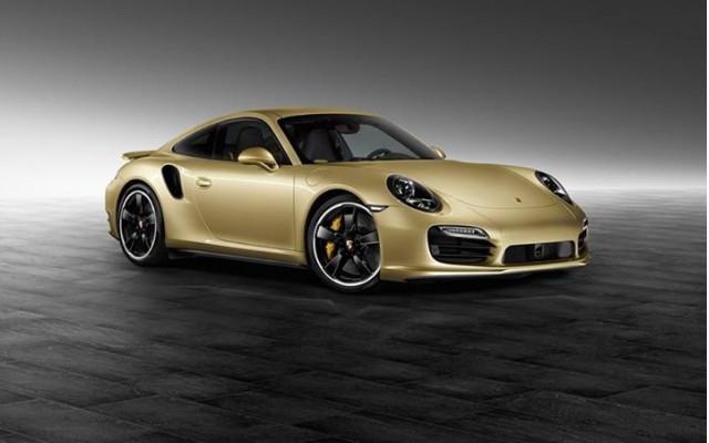 2014 Porsche 911 Turbo in Lime Gold Metallic paint